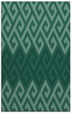 rug #627425 |  blue-green retro rug