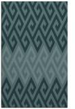 rug #627441 |  blue-green retro rug