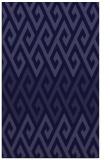 rug #627453 |  blue-violet retro rug