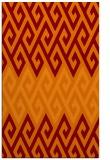 rug #627557 |  orange retro rug