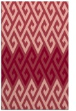 rug #627585    pink retro rug