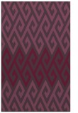 rug #627593 |  purple retro rug