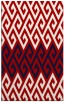 rug #627609 |  red abstract rug
