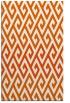 rug #627637 |  red-orange retro rug