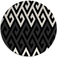 rug #627725 | round black retro rug