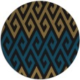 rug #627741 | round black abstract rug