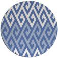 rug #627761 | round blue retro rug