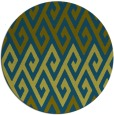rug #627781 | round green abstract rug
