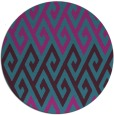 rug #627785   round blue-green abstract rug