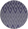 rug #627809   round blue-violet retro rug