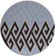 rug #627833 | round blue-violet abstract rug