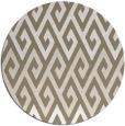 rug #627861 | round mid-brown rug