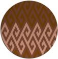 rug #627865 | round mid-brown retro rug