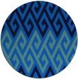 rug #627889 | round blue retro rug