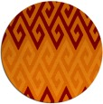 rug #627909 | round red-orange abstract rug