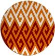 rug #627913 | round orange popular rug