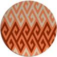 rug #627917 | round beige retro rug
