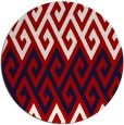 rug #627961   round red abstract rug
