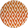 rug #627989 | round red-orange abstract rug