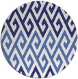rug #628001 | round blue abstract rug