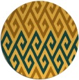 rug #628025 | round yellow abstract rug