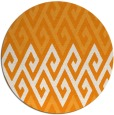 rug #628065 | round light-orange abstract rug