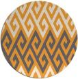 rug #628069   round light-orange rug