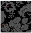 rug #628433 | square black damask rug