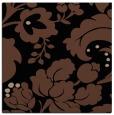 rug #628441 | square black damask rug