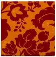 rug #628613   square orange damask rug