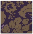 rug #628657 | square mid-brown damask rug