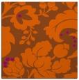 rug #628689   square red-orange damask rug
