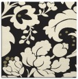 rug #628733 | square black damask rug