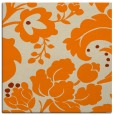 rug #628741 | square orange damask rug