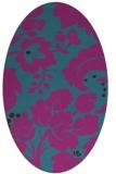 rug #628841   oval pink damask rug