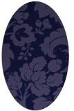 rug #628861   oval blue-violet damask rug