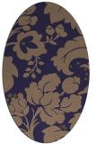 rug #628885 | oval beige damask rug