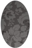 rug #628925 | oval brown damask rug