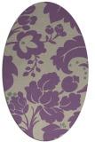 rug #628957   oval purple damask rug