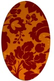 rug #628965 | oval orange damask rug