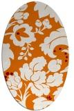 rug #628969   oval orange damask rug