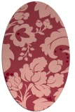 rug #628993   oval pink rug