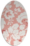 rug #628997   oval pink damask rug