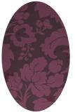 rug #629001   oval purple damask rug