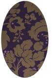 rug #629009   oval purple damask rug
