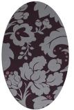 rug #629013 | oval purple damask rug