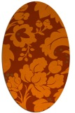 rug #629033 | oval red-orange damask rug