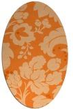 rug #629039 | oval damask rug