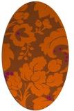 rug #629041   oval red-orange damask rug