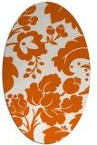 rug #629045   oval red-orange damask rug